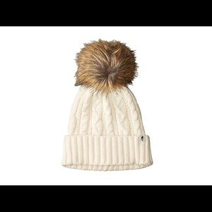 Chunky White Knit North Face Hat (NWT)